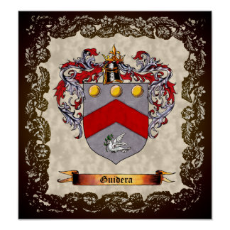 Guidera Coat of Arms Poster