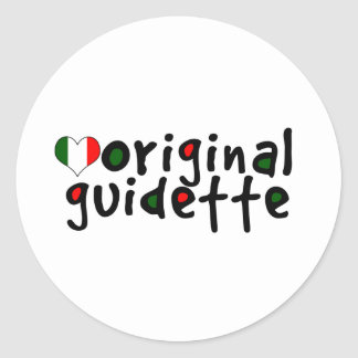 Guidette original pegatina redonda