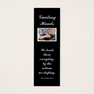 Guiding Hands, We teach... Mini Business Card