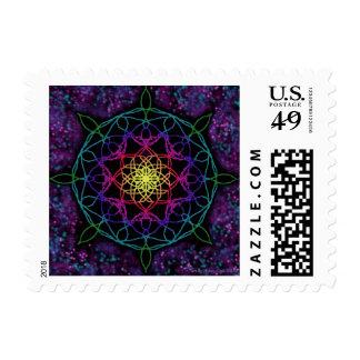 Guiding Star Mandala Postage Stamp