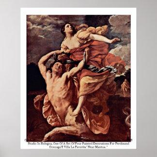 Guido Reni, abducción del Louvre 1620-21 de Póster