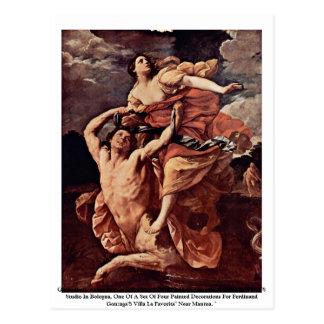 Guido Reni, Abduction Of De'Ianeira 1620-21 Louvre Postcard