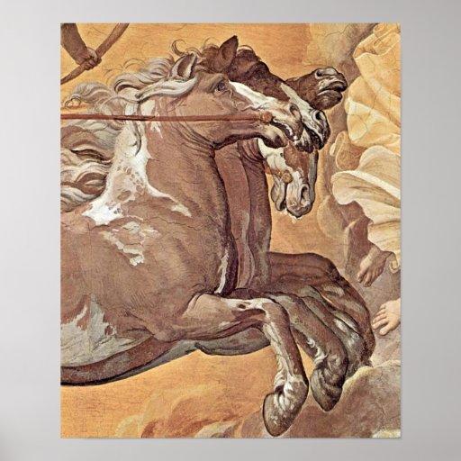 Guido Reni - aurora después del detalle de Apolo Póster