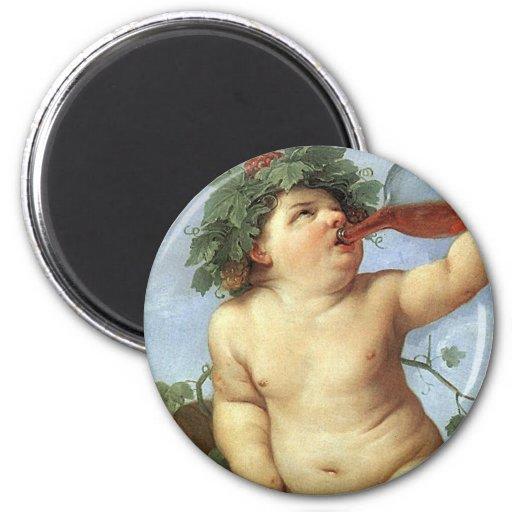 Guido Reni - Bacchus Refrigerator Magnet
