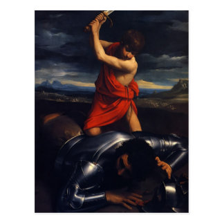 Guido Reni- David and Goliath Postcard
