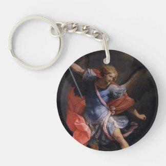Guido Reni- el arcángel Michael que derrota Satan Llavero Redondo Acrílico A Una Cara
