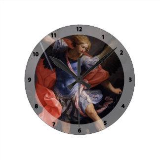 Guido Reni- el arcángel Michael que derrota Satan Reloj De Pared
