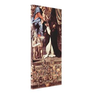 Guido Reni - escenas de Madonna del rosario Lona Envuelta Para Galerías