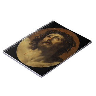 Guido Reni- Head of Christ Crowned with Thorns Spiral Notebook