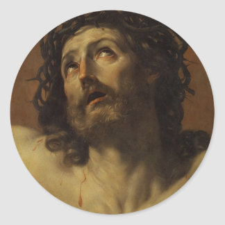 Guido Reni- Head of Christ Crowned with Thorns Stickers
