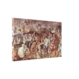 Guido Reni - Introduction to the crucifixion Canvas Print
