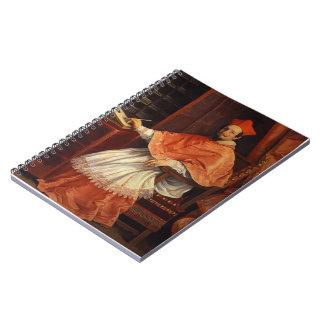 Guido Reni- Portrait of Cardinal Bernardino Spada Spiral Notebook