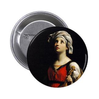 Guido Reni- St Cecilia Button