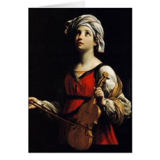 Guido Reni- St Cecilia Card