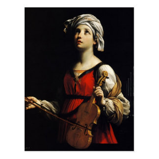 Guido Reni- St Cecilia Postcard