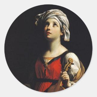 Guido Reni- St Cecilia Classic Round Sticker