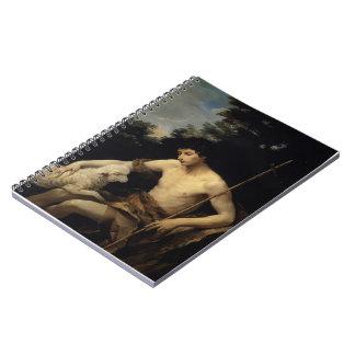 Guido Reni- St. John the Baptist in the Wilderness Spiral Notebooks