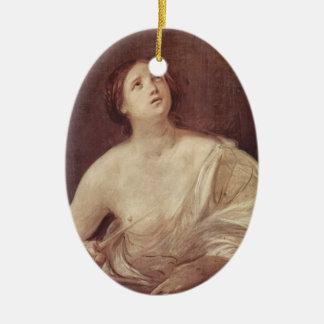 Guido Reni- Suicide of Lucretia Christmas Ornaments