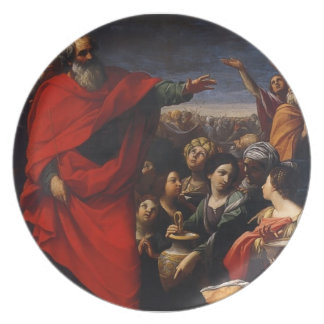 Guido Reni- The Gathering of the Manna Dinner Plates
