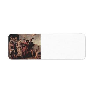 Guido Reni- The Rapeof Helen Custom Return Address Labels