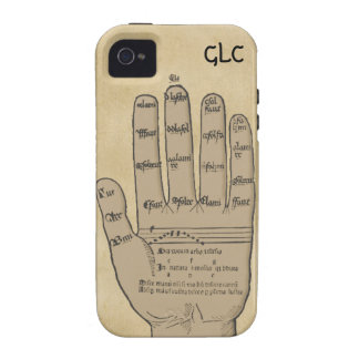 Guidonian Hand, Medieval Music Theory Customizable iPhone 4 Case