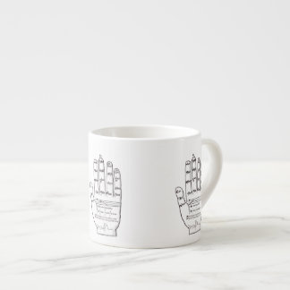 Guidonian Hand, Medieval Music Theory Espresso Cup