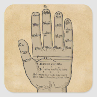 Guidonian Hand, Medieval Music Theory Square Sticker