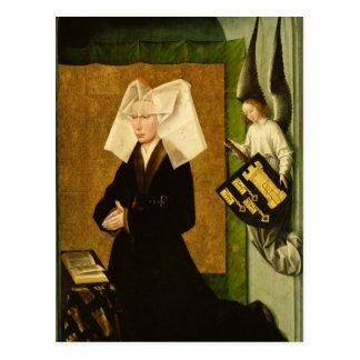 Guigone de Salins, wife of the donor Postcard