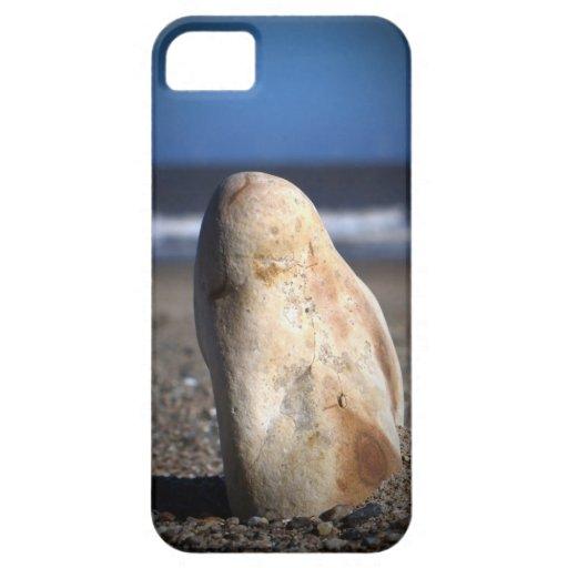 Guijarro en el caso del iPhone de la playa iPhone 5 Fundas