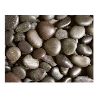Guijarro negro del zen de la naturaleza de la roca tarjeta postal