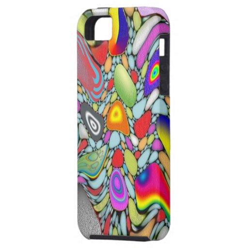 Guijarros abstractos de la playa iPhone 5 carcasa