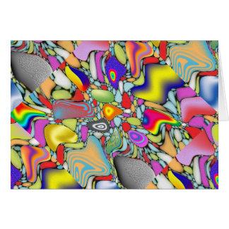 Guijarros abstractos de la playa felicitación