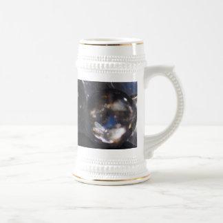 Guijarros de cristal azulados - fotografía jarra de cerveza