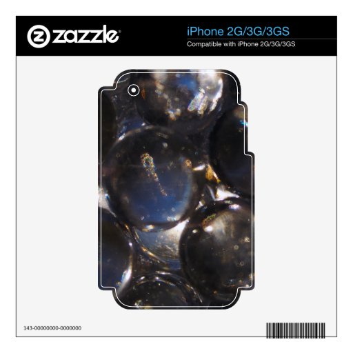 Guijarros de cristal azules - fotografía abstracta iPhone 3G skin