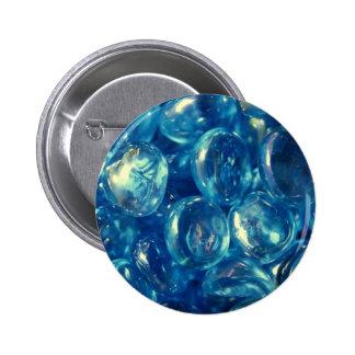Guijarros de cristal azules hermosos pins