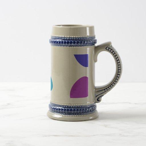 Guijarros de encargo del color de fondo taza de café