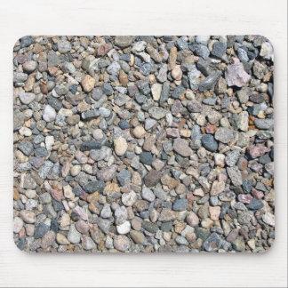 Guijarros y textura de piedra floja tapetes de ratones
