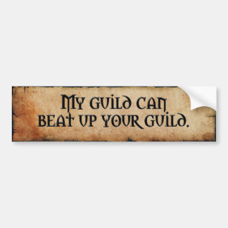 Guild Bumper Sticker Car Bumper Sticker