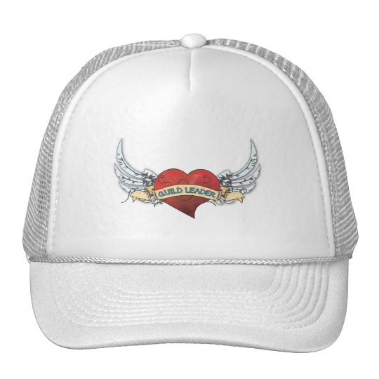 GUILD LEADER Tattoo - Heart and Wings Trucker Hat