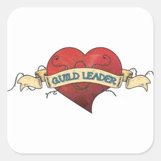 GUILD LEADER Tattoo - Heart Square Sticker
