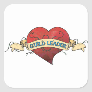 GUILD LEADER Tattoo - Heart Stickers