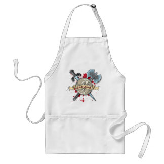 GUILD LEADER Tattoo - Sword, Axe, and Shield Adult Apron