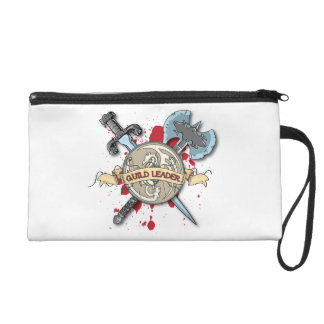 GUILD LEADER Tattoo - Sword Axe and Shield Wristlet Clutch