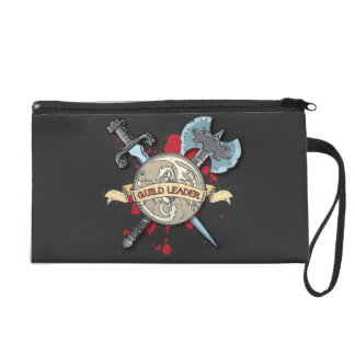 GUILD LEADER Tattoo - Sword Axe and Shield Wristlet Clutches