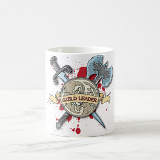 GUILD LEADER Tattoo - Sword, Axe, and Shield Coffee Mug