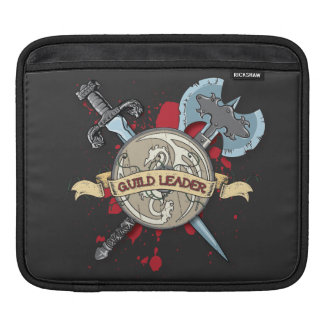 GUILD LEADER Tattoo - Sword, Axe, and Shield Sleeve For iPads