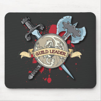 GUILD LEADER Tattoo - Sword, Axe, and Shield Mouse Pad