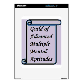 Guild of Advanced Multiple Mental Aptitudes store Decal For iPad