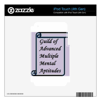 Guild of Advanced Multiple Mental Aptitudes store Decals For iPod Touch 4G
