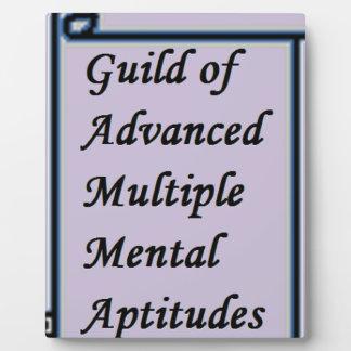 Guild of Advanced Multiple Mental Aptitudes store Plaque